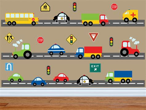 Car Wall Decals For Nursery Truck Wall Decal Construction Wall Decal Car Wall Decal