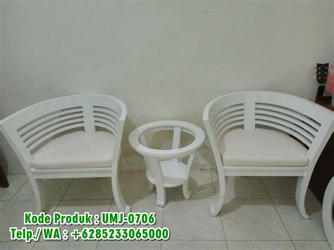 Set Kursi Teras Cantik kursi teras putih cantik harga terjangkau call
