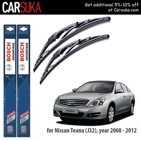 bosch advantage wiper blade set for nissan teana j32 24 quot 19 quot