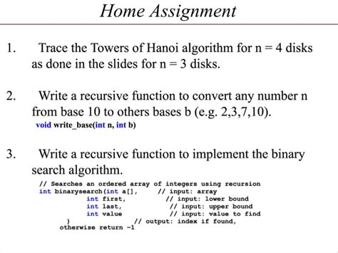 Base For A Recursive Binary Search Algorithm Trace The Towers Of Hanoi Algorithm For N 4 Disk Chegg