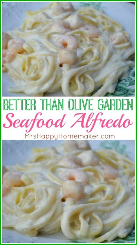 Olive Garden Seafood Alfredo by Better Than Olive Garden Seafood Alfredo Mrs Happy Homemaker