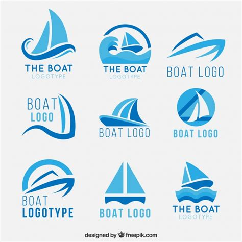 boat show logo boat logos vector free download