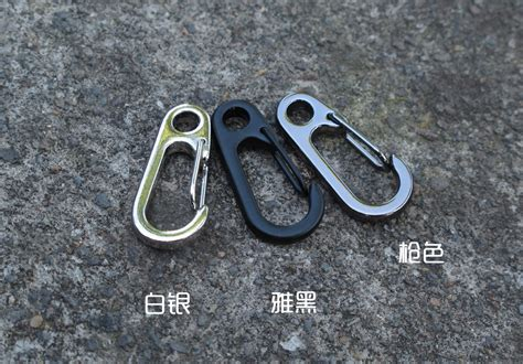 Keychain Besi Heroes Tipe 2 mini d type buckle hanging carabiner keychain edc portable