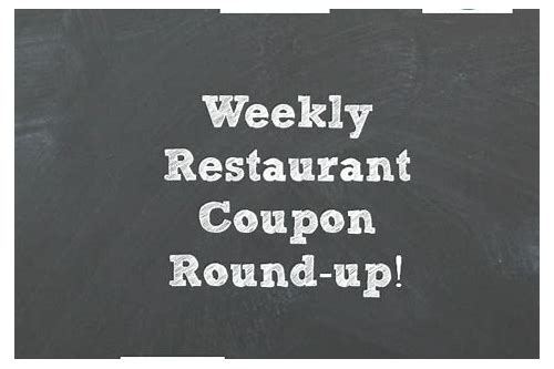 restaurant coupons this week