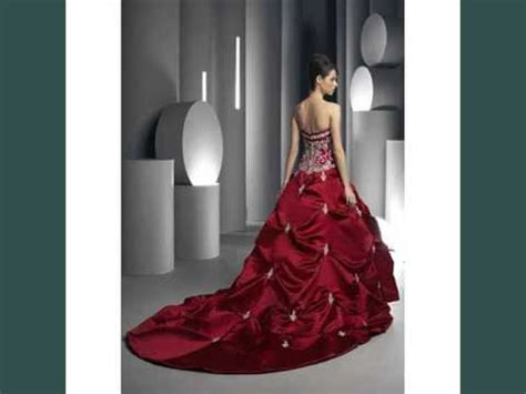 collection of color red red & white wedding dress youtube