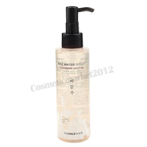 the face shop rice water bright cleansing light oil the face shop rice water bright cleansing light oil 150ml