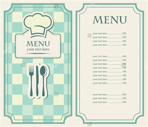 simple menu template simple menu templates 28 images plain menu template
