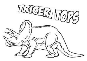triceratops coloring page prehistoric coloring pages world