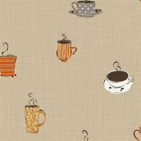 coffee wallpaper for kitchen york wallcoverings coffee mug wallpaper kb8508 the home