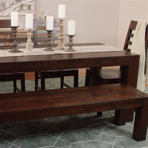 distressed wood donnovan fixed dining table world market