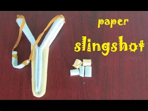 How To Make Paper Stronger - how to make a paper slingshot simple and strong