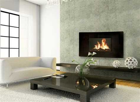 Electric Wall Hanging Fireplaces by Celsi 43 Inch Panoramic Black Wall Hanging Modern Electric