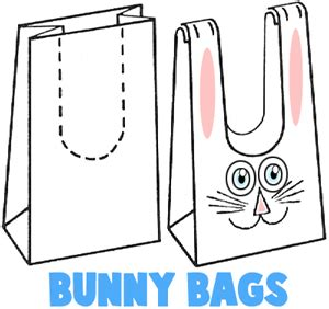 Paper Bag Bunny Template easter bunny crafts for ideas to make bunnies with easy arts crafts projects
