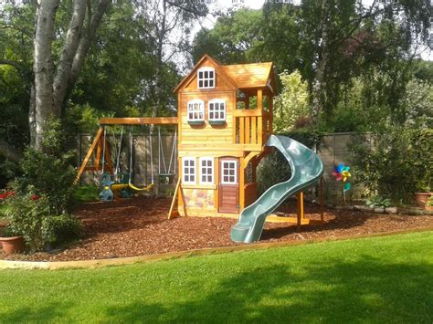 swings and slides for small gardens advantages of outdoor play climbing frames new zealand blog