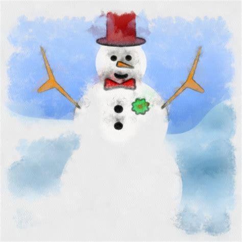 snowman painting  stock photo public domain pictures