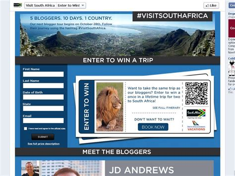 Sweepstakes South Africa - south african tourism endless skies sweepstakes sweepstakes fanatics