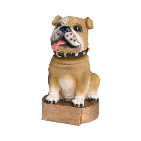 bobblehead t trophies brown bulldog bobblehead trophies