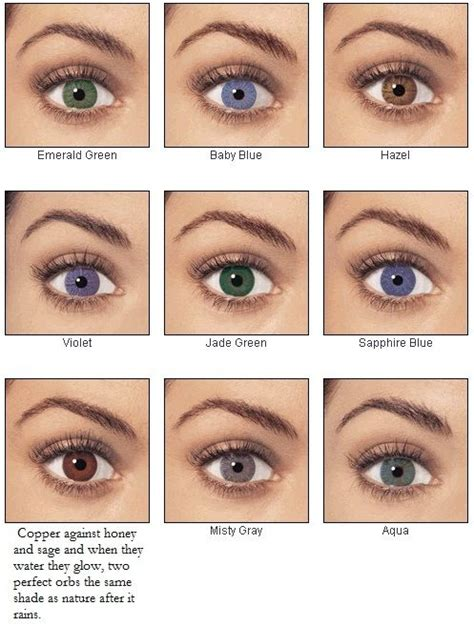 how many eye colors are there for all the who think their brown are boring