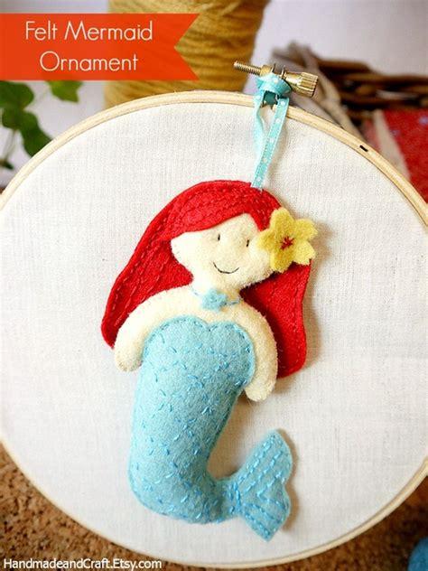 pattern for felt mermaid felt little mermaid pattern plushie ornament