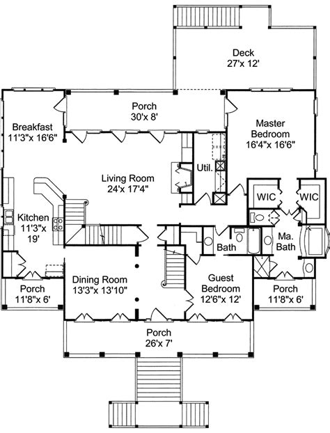 waterfront floor plans waterfront house plans