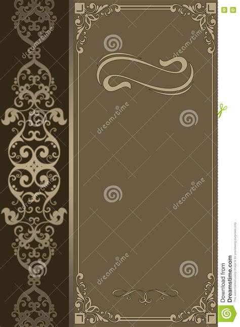 elegant layout book decorative background with vintage border and ornament