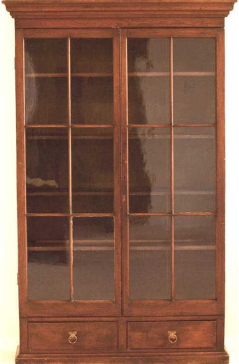bookcase with glass doors and drawers early walnut bookcase with pane glass