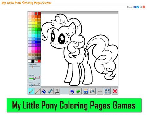 pony coloring pages games my little pony coloring pages games mycoloringgame