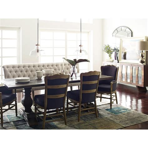 french banquette andrea french country tufted sand long dining bench