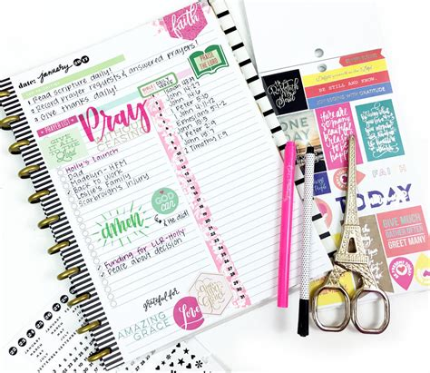 plan pray slay the planner books using a happy planner 174 daily sheet for a monthly faith