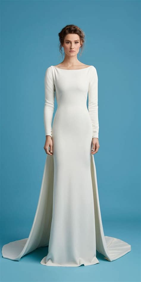 Plain White Wedding Dresses by Plain White Wedding Dress With Sleeves Wedding Ideas