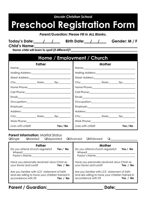 28 images of preschool enrollment application template
