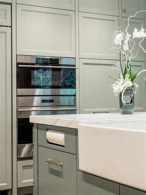 island  drop  paper towel holder contemporary kitchen