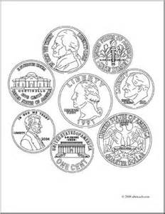coin coloring pages coins coloring page school math