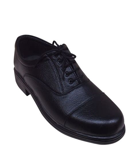 bharat shoe store black leather formal shoes price in