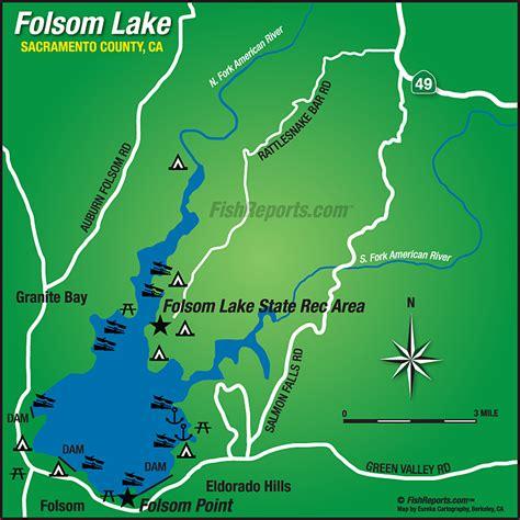 folsom ca map folsom lake fish reports map