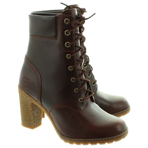timberland ankle boots for timberland glancy heeled ankle boots in brown