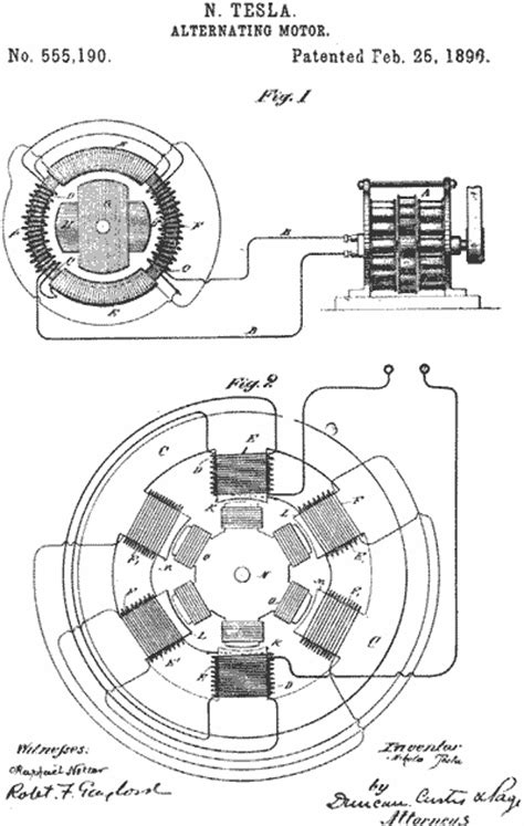 Tesla Ac Motor Design Pbs Tesla Master Of Lightning Selected Tesla Patents