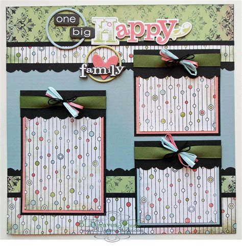 scrapbook layout one photo blj graves studio one big happy family scrapbook page layout