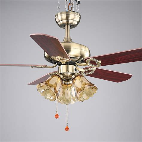 Dining Room Ceiling Fans 42inch European Style Retro Ceiling Fan L Bedroom Living Room Dining Room Fan Light Fan