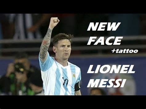 tattoo messi pes 2015 pes 2015 new face hair lionel messi tattoo youtube