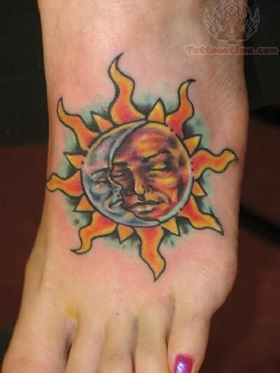 sun foot tattoo sun rays on foot