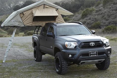 toyota tacoma bed tent adventure series toyota tacoma by xplore vehicles hiconsumption