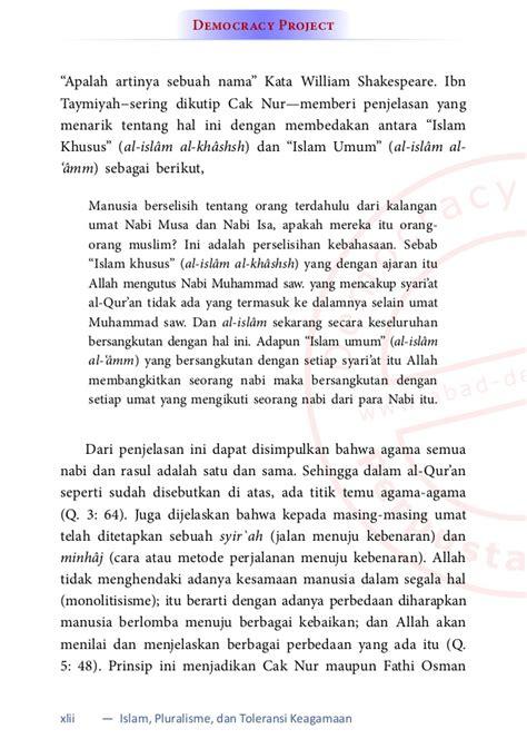 Buku Kontroversi Al Quran Jefferson By Aspellberg islam pluralisme toleransi keagamaan pandangan al quran kemanus