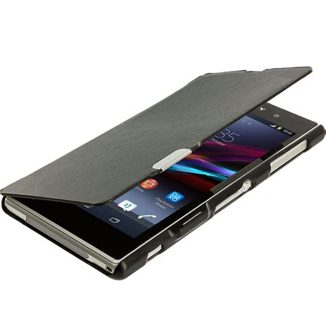 magnetic window covers for sony xperia z1 magnetic closing wallet flip