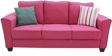 pink sofa set buy florence three seater sofa in hot pink colour by