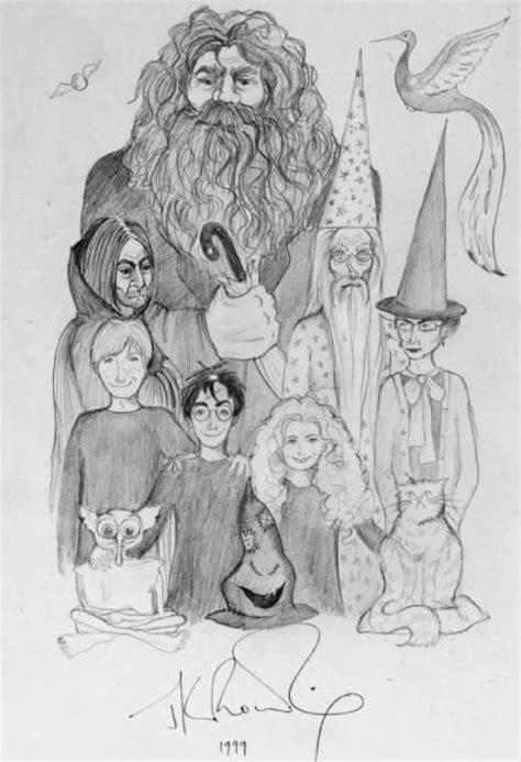 Ilustrações de Harry Potter pela caneta de J. K. Rowling