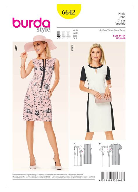 pattern sewing burda burda 6642 misses dress