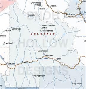 map of gunnison colorado gunnison county colorado color map