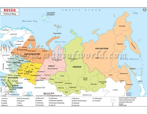 Russian Home Decor by Buy Russia Political Map