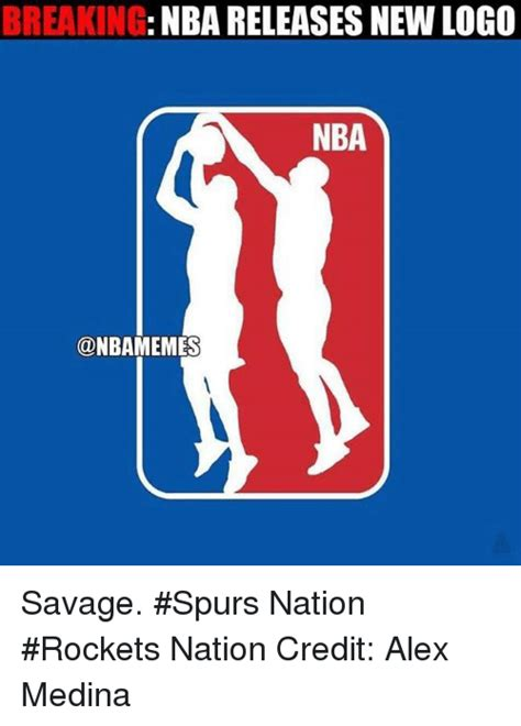 Nba Logo Meme - breaking nba releases new logo nba onbamemes savage spurs